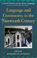 Clawr blaen 'Language and Community in the Nineteenth Century'