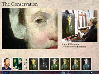 The conservation of a portrait by Richard Wilson